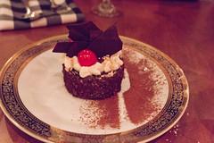 Black Forest Cake (Rene S. Suen) Tags: toronto cake cherry dessert sweet chocolate treats whippedcream treat cocoa acadia crumb blackforestcake maraschino renedinesout december2011 nye2011 mattblondin scottselland acadiarestaurant 70smenu nyemenu acadiatoronto acadiarestaurantbar