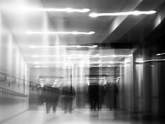 VISITORS (kenny barker) Tags: bw abstract motion blur art monochrome lumix lights scotland movement motionblur icm panasonicgf1 kennybarker