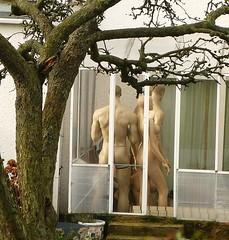 A peep into a suburban conservatory! (helenoftheways) Tags: uk london freeassociation mannequins voyeurism notrealpeople eltham nakedpeople