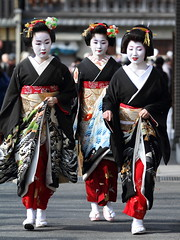 New Year's Greeting ---Traditional event in Kyoto--- (Teruhide Tomori) Tags: japan lady kyoto traditional maiko geiko 京都 日本 gion 芸妓 舞妓 祗園