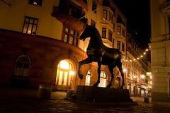 Dark horse (fummel) Tags: street longexposure winter urban horse silhouette statue night dark sweden stockholm january sverige natt blasieholmen blasieholmstorg