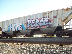 HOPE KERSE (Reckless Artist) Tags: railroad minnesota st metal train bench paul photography graffiti midwest artist ipc tracks cities minneapolis twin hm heavy hopper freight amfm reckless hoppe kerse bencher benching hope4