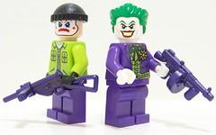 Joker & Henchmen (Silenced_pp7) Tags: brick magazine gun purple arms lego arm fig bricks tommy batman joker minifigs sten figures figs minifigure tommygun henchmen brickarms brickarm