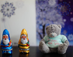 Small visitors (KaterRina) Tags: bear toy santaclaus visitors candies oneobject365daysproject pukatukas