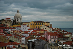 Lisbon, Portugal - View of Alfama from Miradouro de Santa Luzia (GlobeTrotter 2000) Tags: santa new eve winter vacation urban tourism portugal clouds de landscape happy holidays cityscape cloudy lisboa lisbon nye year visit jungle vista miradouro mirador alfama lisbonne luzia