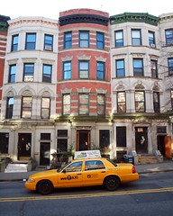 Townhouses on West 141 Street, Hamilton Heights, New York City (jag9889) Tags: city nyc ny newyork yellow architecture buildings inn harlem manhattan cab taxi hill victorian bedandbreakfast residential suger 2012 townhouses hamiltonheights 141street jag9889 y2012