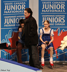 Timothy Lum, Aaron Lowe, and Noa Bruser (Melanie Heaney) Tags: sports action coaching figureskating icedance aaronlowe kissandcry noabruser timothylum 2011canadians