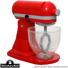 LEGO KitchenAid Tilt-Head Stand Mixer (bruceywan) Tags: ohio red apple scale kitchen toy stand model candy lego head mixer replica hobart 1919 tilt greenville snot appliance photostream countertop kitchenaid duplo whirpool moc brucelowellcom