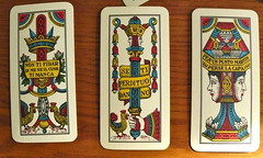"""Jeu de cartes italiennes """"septentrionales"""" (Bergame, Bologne, Venise) dont les couleurs sont Dinars, Coupes, pes et Btons (Marie-Hlne Cingal) Tags: bergamo cartes scopa briscola bergame venete cartedagioco masenghini cartesitaliennes"""