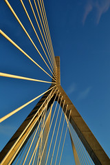 Zakim (KAM918) Tags: bridge sky boston ma nikon memorial suspension massachusetts perspective zakim d3100