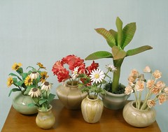 One Inch Scale Porcelain (mostlyart) Tags: paperflowers oneinchscale dollhouseminiatures 112scale miniatureflowers miniaturevase miniatureporcelain