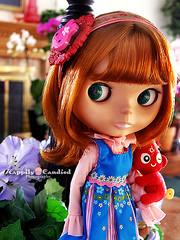 Little Schoolgirl Plum (Happily Candied) Tags: cute love doll sweet stock plum kawaii blythe rare bl kozy groovygroove kozykape phoebemaybe