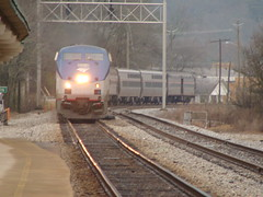 Amtrak Arriving in Anniston, Al. (bamaboy1941) Tags: amtrak trainengines allthingsrailroad usrailfanpictures easternrailroads annistonal alabama