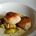 Seared Day Boat Sea Scallops with Local Corn and Squashes
