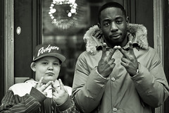 Winne & Jovany (sergiodenheijer) Tags: street portrait bw music monochrome dutch canon eos 50mm rotterdam raw child culture winne 7d hiphop rap multicultural rapper