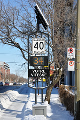 Speed Monitor (caribb) Tags: winter canada sign montral quebec montreal hiver qubec 2012 vitesse technopark speedmonitor