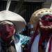 La mattina del 1 gennaio 2012 una piccola manifestazione religiosa transita per le vie di Lima