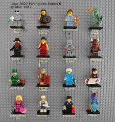 Lego 8827 Minifigures Series 6 (KatanaZ) Tags: lego butcher minifigs bandit sleepyhead mechanic genie minotaur leprechaun ladyliberty surgeon flamencodancer skatergirl romansoldier minifigures series6 clockworkrobot classicalien highlandbattler lego8827 intergalacticgirl