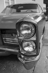 Hep Cat (Flint Foto Factory) Tags: auto old city summer urban bw chicago classic car sedan illinois 60s automobile gm quad headlights cadillac september chrome lincoln montrose 1960s 1968 luxury lincolnsquare stacked calais headlamps generalmotors 2011 4door standardoftheworld worldcars entrylevel