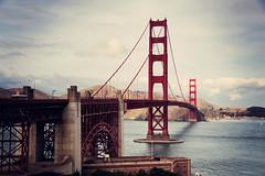 Golden Gate Bridge (Leighton Wallis) Tags: sanfrancisco birthday ca usa bay arch suspension unitedstatesofamerica towers goldengatebridge fortpoint marinheadlands internationalorange thepresidio 75thanniversary calirfornia ggnpc11