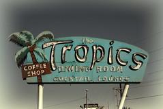 The Tropics (Pete Zarria) Tags: coffee sign bar illinois route66 neon eat us66