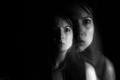 (danielle kiemel) Tags: longexposure portrait selfportrait girl monochrome loss female ghost young identity daniellekiemel