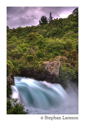Huka Falls (Stephan Larsson Photography) Tags: new travel blue detail nature water waterfall high amazing nikon wasser long exposure power dynamic time turquoise zeeland falls zealand 200 18 range stephan powerful vatten hdr vr larsson nya bl vattenfall d90