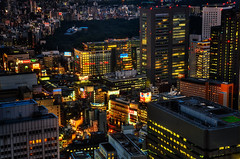Lights on, Tokyo! (Sprengben [why not get a friend]) Tags: world china city winter summer sky music art japan clouds skyscraper observation lights tokyo ginza amazing ni