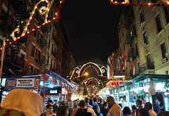 Feast of San Gennaro in Little Italy (Surrealplaces) Tags: new york city newyorkcity urban newyork skyline night centralpark gotham brookylnbridge