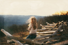 Into the wild. (Danielle Pearce) Tags: blue wild mountains film nature girl canon vintage virginia mark hill overlay ridge ii 5d wintergreen appalachain