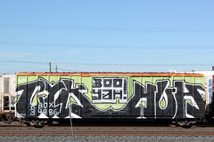 01292012 027 (CONSTRUCTIVE DESTRUCTION) Tags: by train graffiti streak tag boo boxcar graff piece huh freight yah fr8 moniker cyk