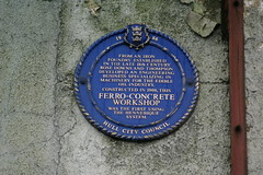 Photo of Ferro-concrete Workshop blue plaque