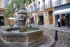 "A plaza at Aix en Provence • <a style=""font-size:0.8em;"" href=""http://www.flickr.com/photos/75865141@N03/6814708087/"" target=""_blank"">View on Flickr</a>"