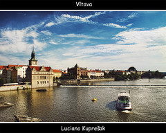 Vltava Prague (Luciano Kupreak) Tags: city bridge building art water architecture canon blackwhite wasser czech prague sigma prag praha hdr luciano cechy 2011 cesko 50d canoneos50d canon50d kupresak ringexcellence