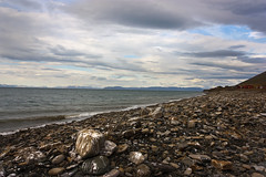 Bjorndalen, Svalbard (James . Douglas) Tags: sea norway canon landscape rebel kiss rocks wide svalbard arctic fjord xsi 450d wideanglecoast