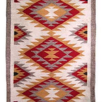 "<b>Navajo Double Saddle Blanket Rug</b><br/> ""Navajo Double Saddle Blanket Rug"" Weaving, pre-1960 LFAC # 2003:12:08 <a href=""http://farm8.static.flickr.com/7001/6852265663_cf2379aa95_o.jpg"" title=""High res"">∝</a>"