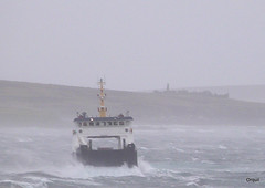 The Thorsvoe Ferry Approaching Houton (orquil) Tags: uk weather ferry islands march scotland spring orkney waves gale rough roro houton scapaflow thorsvoe