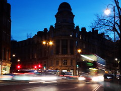 Whoosh... (Pranil.Raja) Tags: life street longexposure light motion blur london cars buses lines night dark lights evening movement dusk sony tripod streetphotography line sharp busy sonycamera f50 longexposures lowiso 05seconds sonyhx100v sonydschx100v sony100v pranilraja