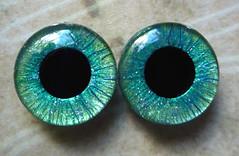 "Handpainted Custom Blythe eyechips ""Fine Lines"""