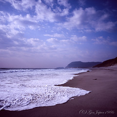 20160320-07 (GenJapan1986) Tags: 2016 fujifilmgf670wprofessional           6x6 film tokyo island travel  japan sea pacificocean landscape beach sky niijima fujifilmprovia400x