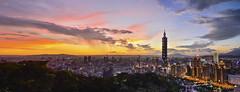 Sunset @ Taipei 101  Skyscraper (Jennifer ) Tags: longexposure skyscraper nikon long exposure magic taiwan 101 hour  taipei        101 taipei101skyscraper   nikond4s sunsettaipei101skyscraper