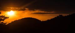 Magical moment (iggyshoot) Tags: sunset sky orange sun black france mountains colour nature silhouette clouds landscape outside reflex nikon noir nuage paysage couleur coucherdesoleil d610 exterieur