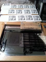 screen printing... (hero artist) Tags: studio cards diy screen printing greeting