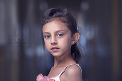ASHA (rdeloviar) Tags: pink blue portrait color bulb race children kid cool mixed model eyes nikon ballerina warm child photoshoot bokeh bare flash 85mm dancer headshot portraiture actress tones grading d610 godox
