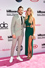 LAS VEGAS, NV - MAY 22: Recording artist Thomas Rhett (L) and Lauren Gregory Akins attend the 2016 Billboard Music Awards at T