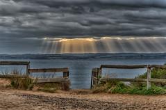 Break on through to the other side (BlueberryAsh) Tags: holiday storm beach clouds coast sand nikon australia ventnor phillipisland sunrays australianbeach nikon24120 oceanseascape cloudsstormssunsetssunrises nikond750
