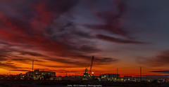 Sunrise over Osborne Ship Yards (johnwilliamson4) Tags: longexposure sunrise industrial crane outdoor australia adelaide southaustralia factories australiansubmarinecorporation
