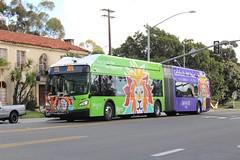 MTS Rapid Bus (So Cal Metro) Tags: bus promotion advertising zoo marketing sandiego metro ad wrap transit 1200 sandiegozoo artic rapid articulated mts balboapark hillcrest rt215 sandiegotransit newflyer articulatedbus xcelsior xn60 mtsrapid bus1201