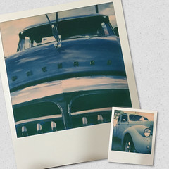Classic Blues (ildikoannable) Tags: blue classic film analog polaroid classiccar guelph instant polaroid600 aw bluecar cruisenight project365 pacard theimpossibleproject impossiblefilm