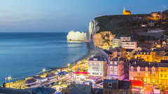 tretat in a sea of lights (Seval Aydoan) Tags: frankreich normandie fr tretat